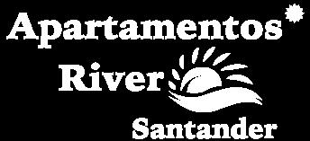 apartamentos river santander logo semiblanco